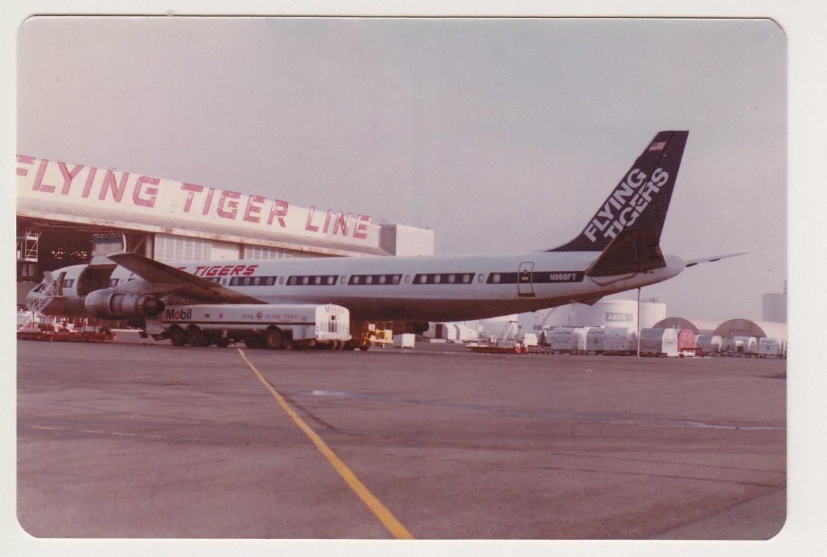 A Flying Tiger jet.