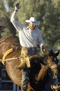 East Helena Rodeo Cowboys Come Up Short During Bull