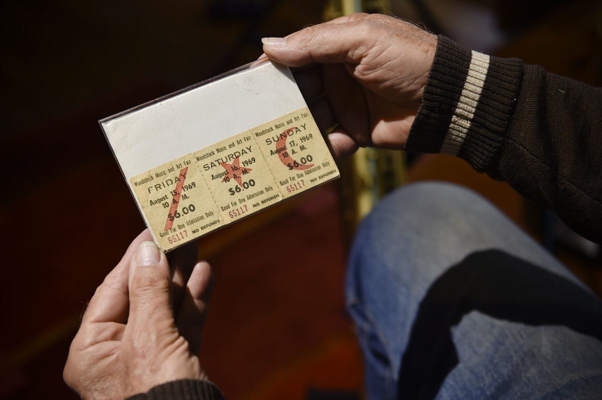 Rehmann looks at his original tickets