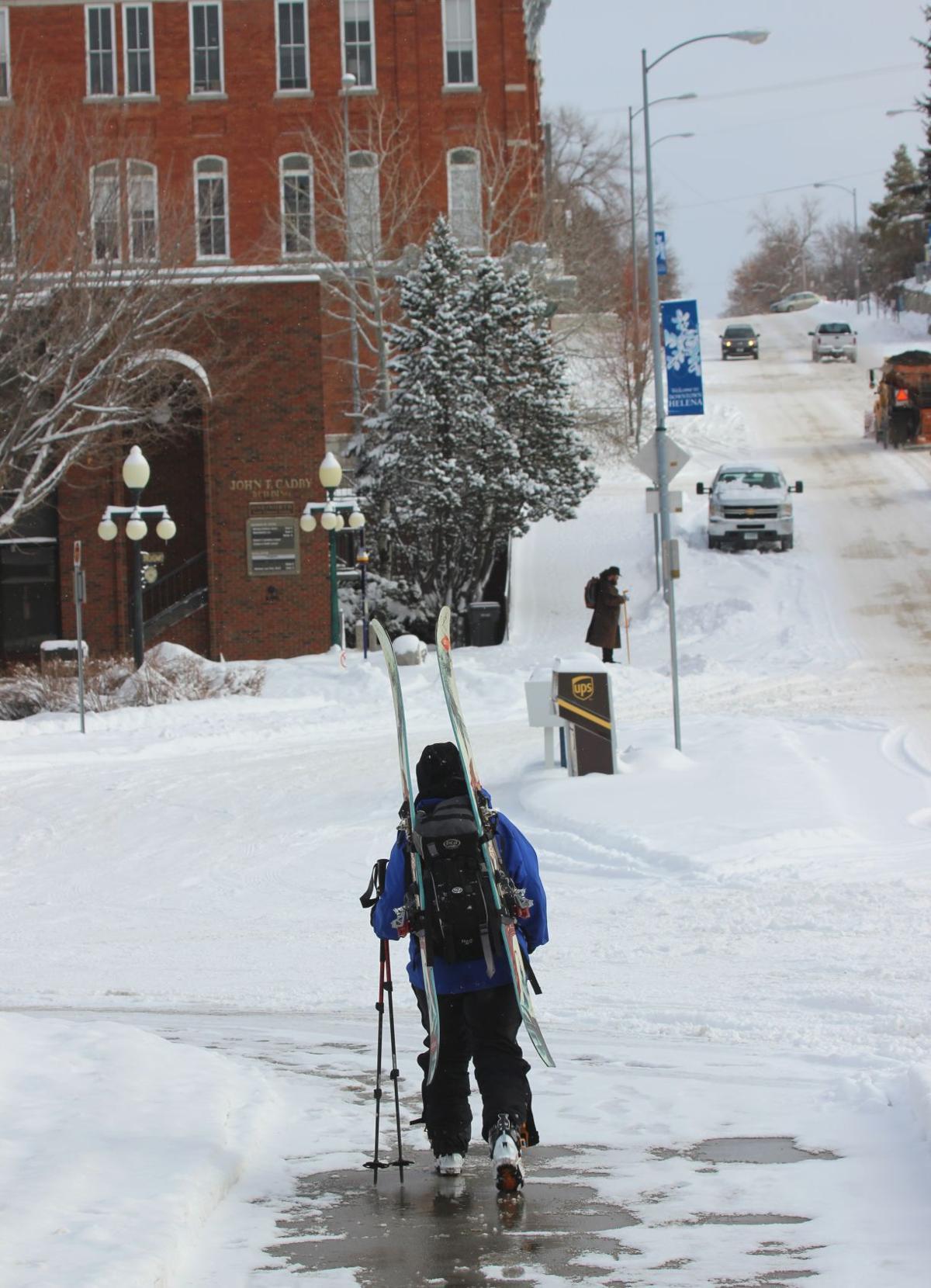 Skier in Helena