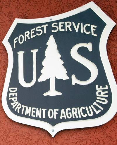 Forest Service office sign (IR copy)