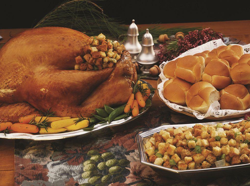 Thanksgiving dinner turkey stuffing stock image