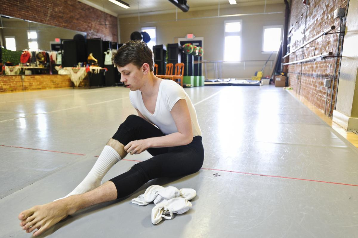 Fisk puts on his pointe shoes recently