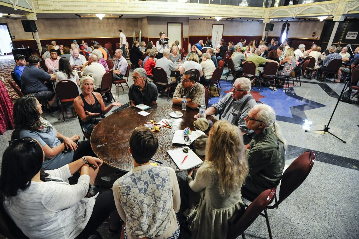 Community members discuss solutions