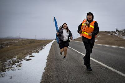 'They wanted to come home': 90 Northern Cheyenne kids honor history in run from Nebraska to Busby