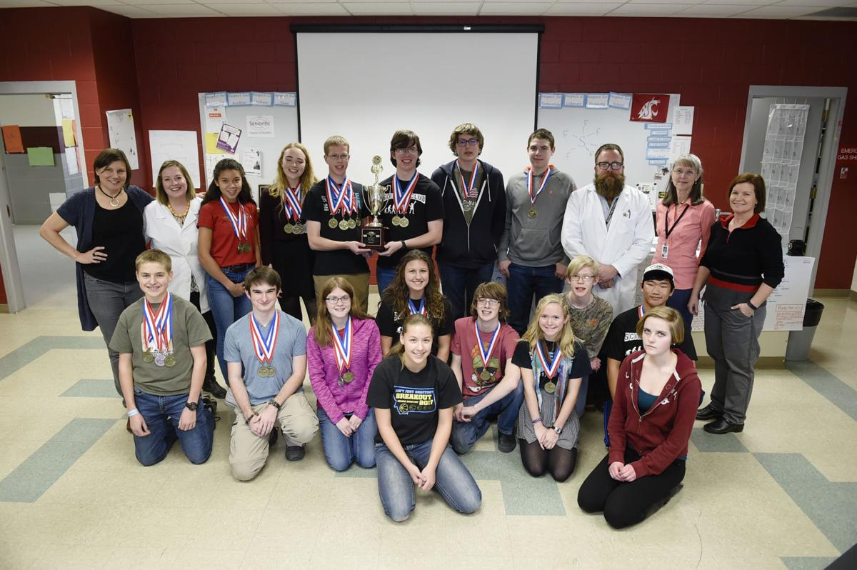 The Helena High School state champion Science Olympiad team.