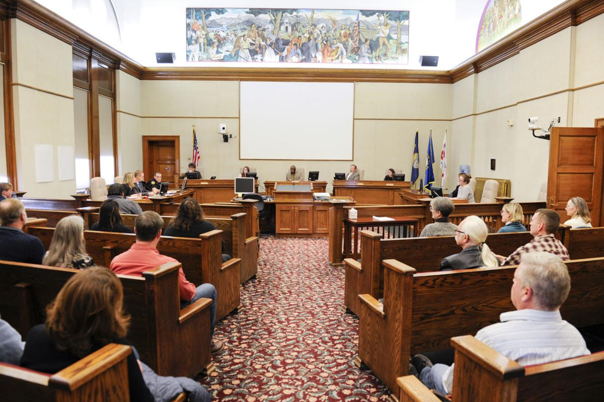 The Helena City Commission holds a special meeting