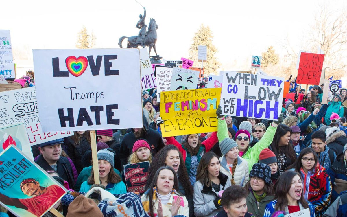 In this IR file photo, Roughly 10,000 people gather in front of the Montana State Capitol for the 2016 Montana Women's March last Jan.