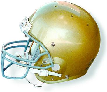 Carroll College Fighting Saints helmet logo