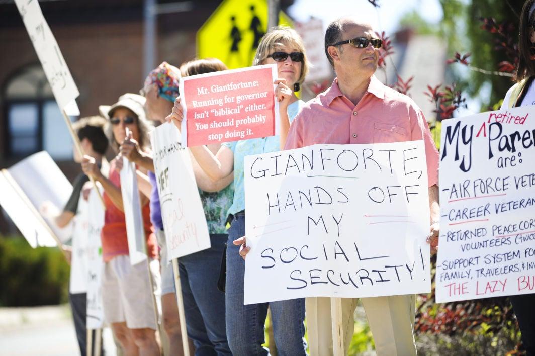 Gianforte Protesters