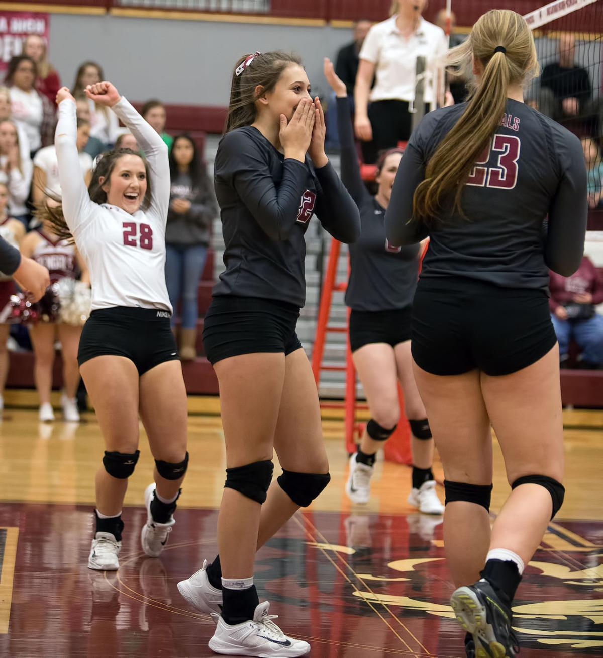 volleyball; HHS vs Flathead