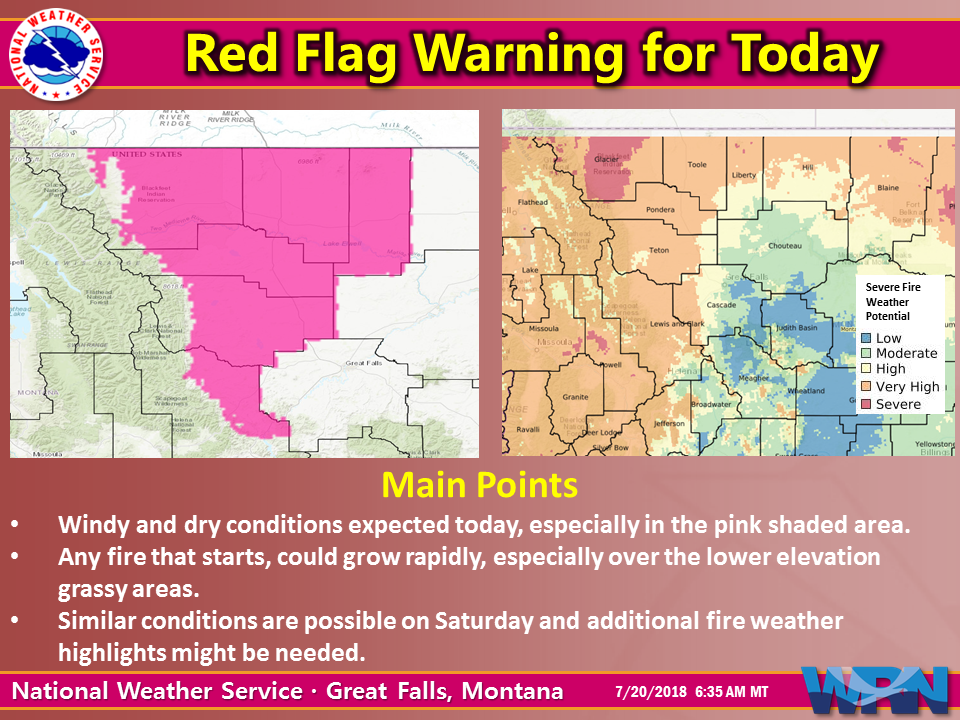 Red Flag Warning issued for Helena Lewis and Clark National Forest