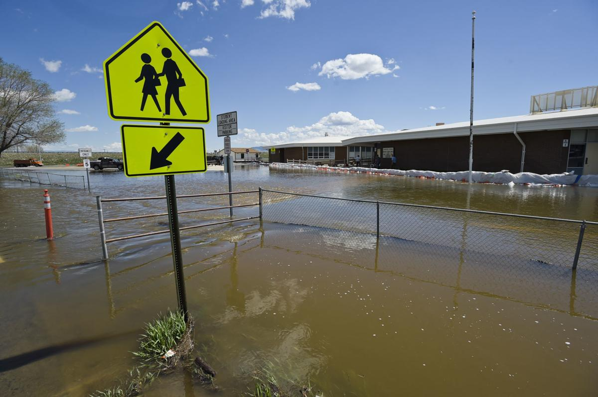 As flooding in the Helena Valley continues Rossiter School remains closed to classes.