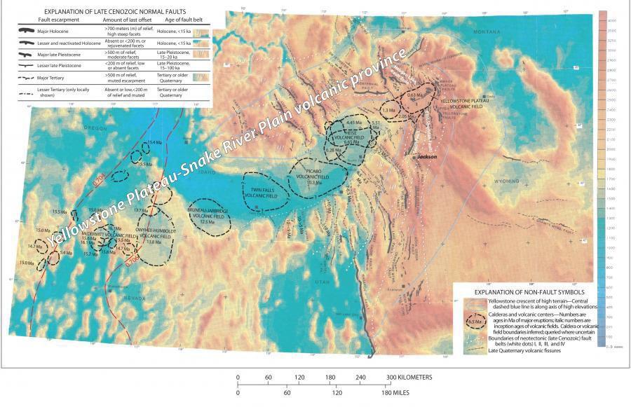 Yellowstone hot spot movement