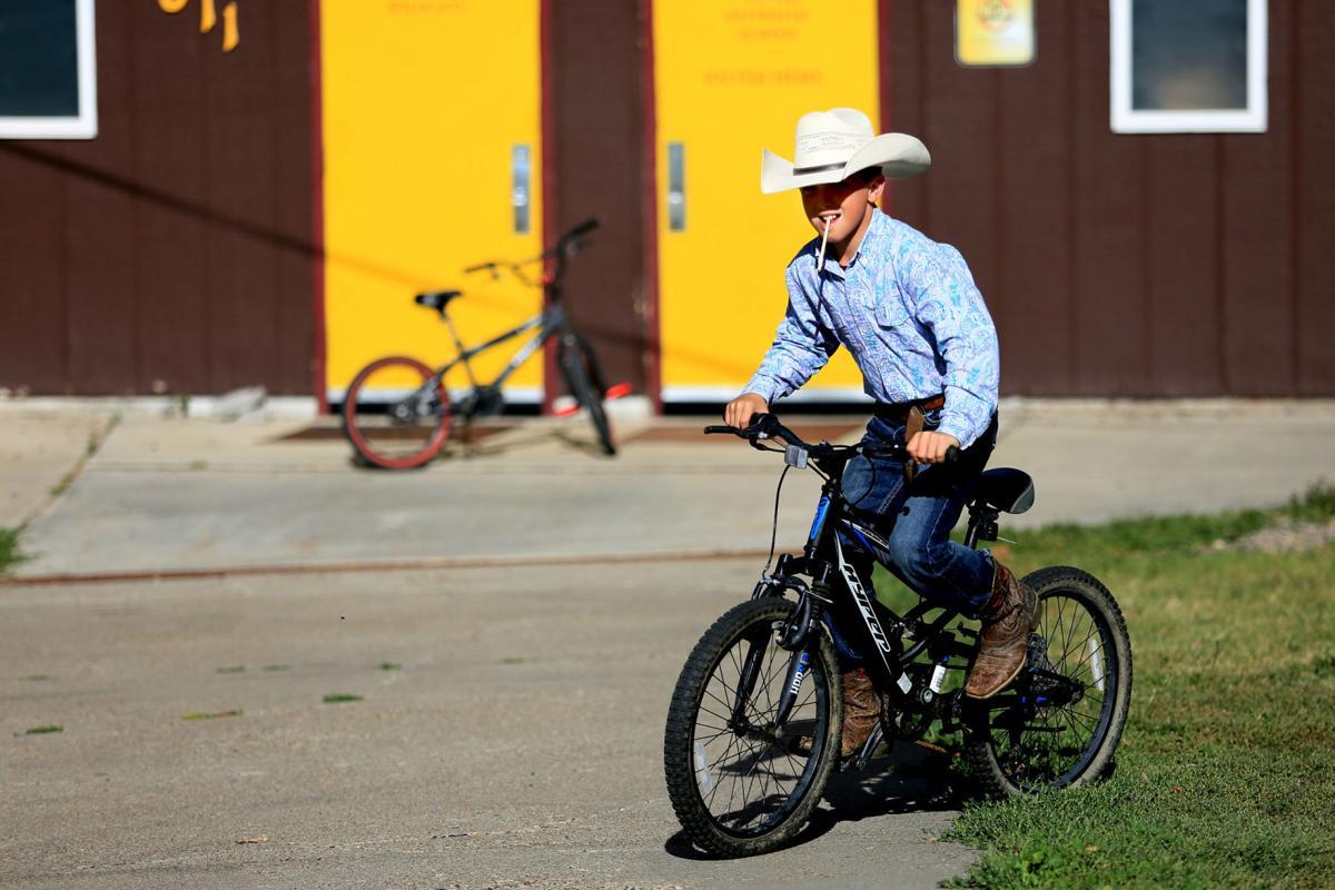 Bryce Becker rides his bike