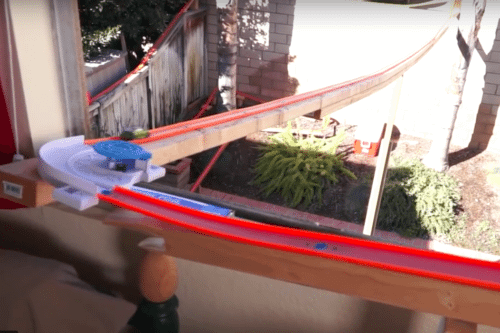 This Ridiculously Long Hot Wheels Track Is Every Kid's Dream Come True