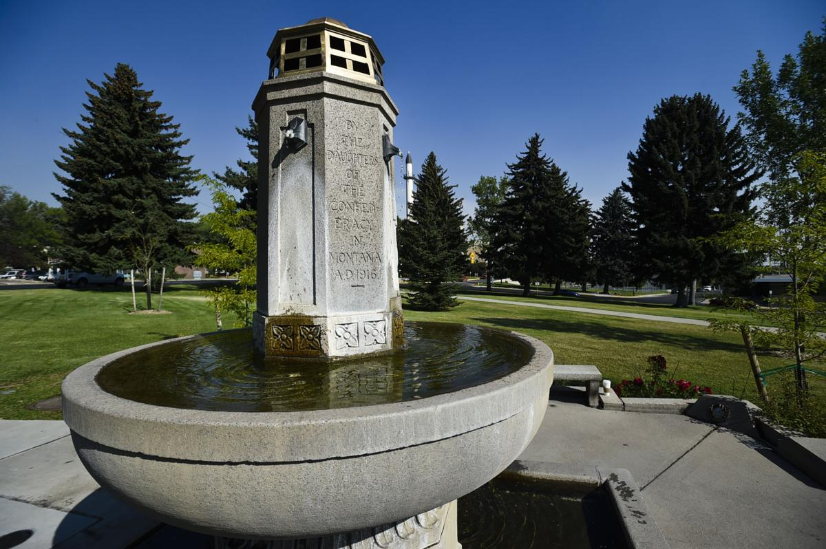 The Confederate Fountain at Hill Park in Helena.