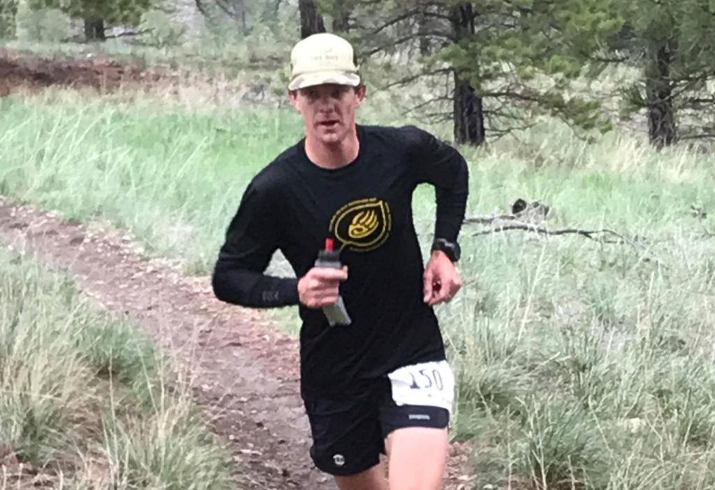 John Fitzgerald running a South Hills trail