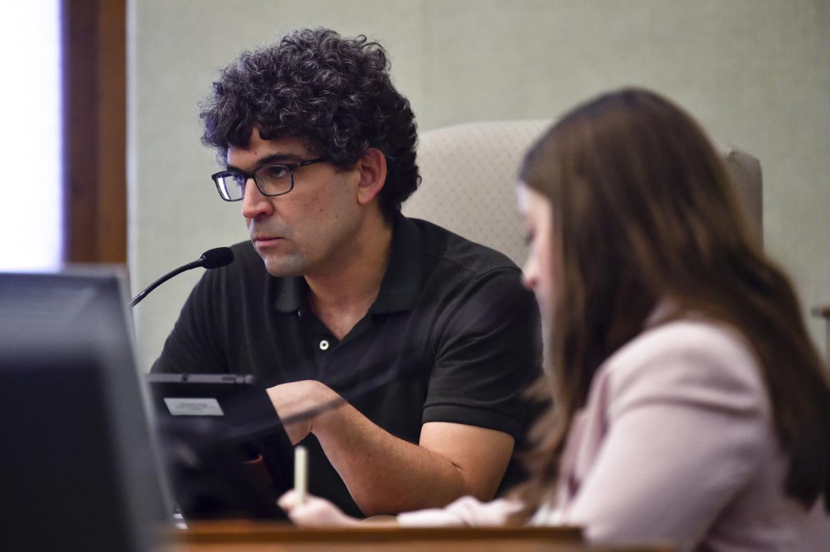 Helena City Commissioner Andres Haladay speaks during Monday special city commission meeting