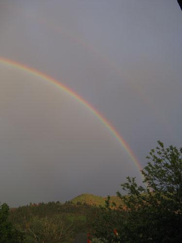 Double rainbow over Helena