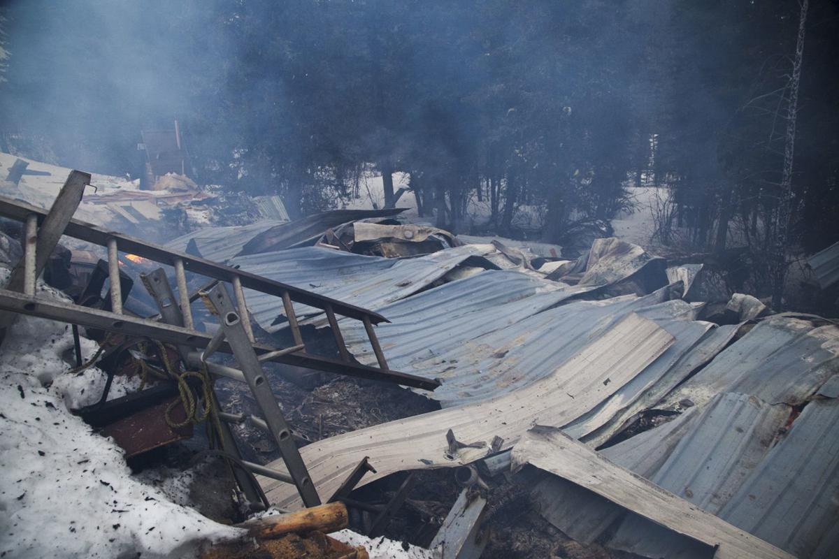 The scene of a home explosion in Meagher County that left one man unharmed Wednesday morning.
