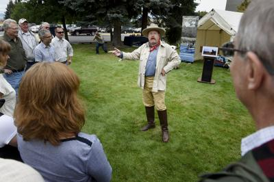 Adam Lindquist, playing the role of President Theodore Roosevelt