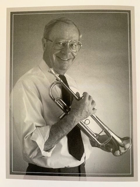 Stan Stephens with trumpet