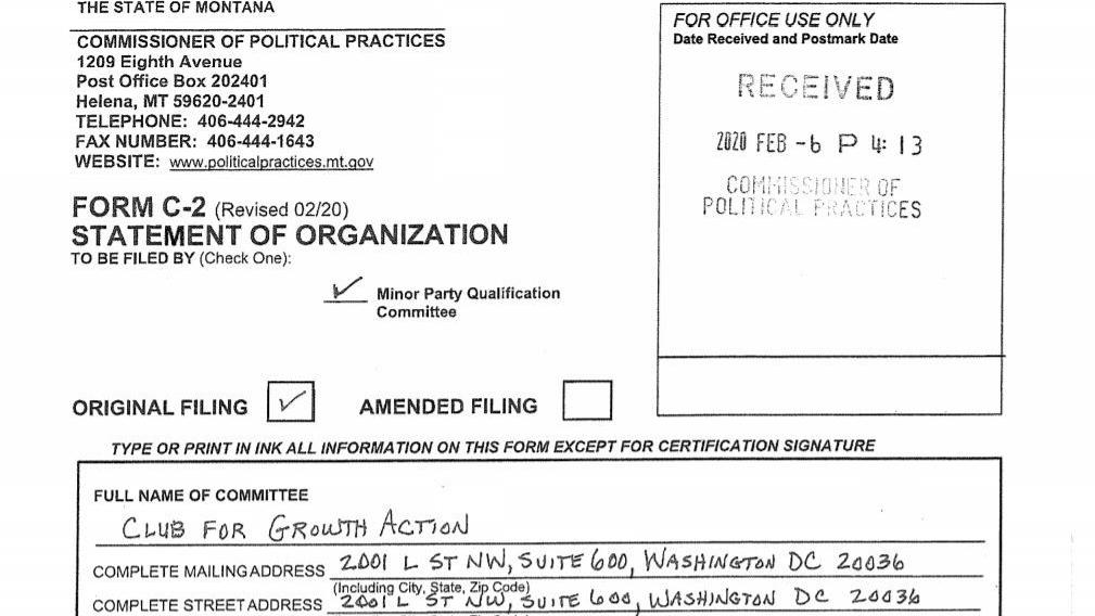 Republican PAC files to get 3rd party on Montana ballot