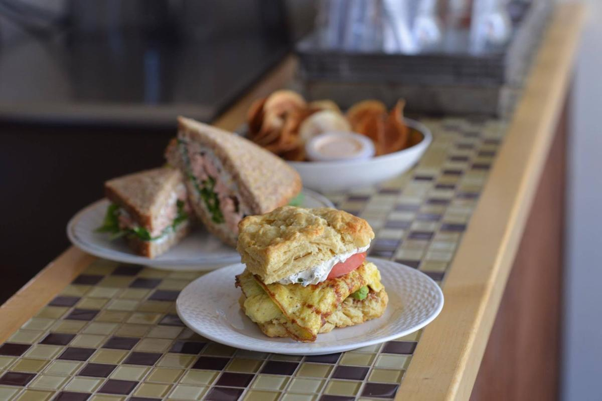 Nosh Cafe offers a menu of breakfast and lunch options ranging from waffles to salad.