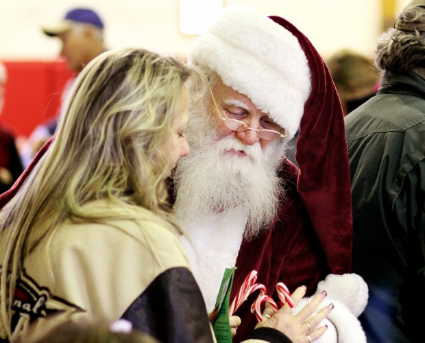 Dressed as Santa, Charlie Jerke, of Florence