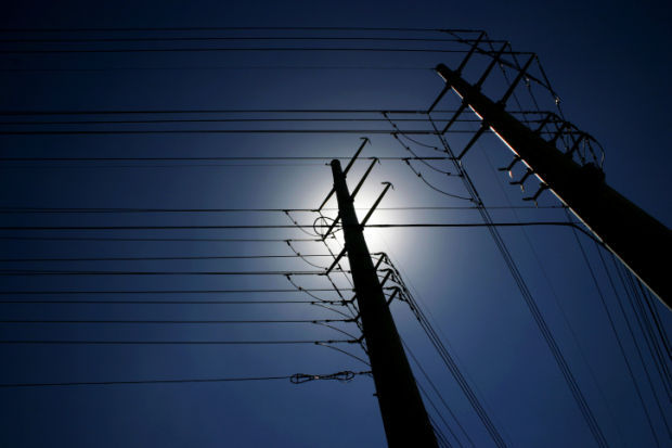 power lines power outage stockimage