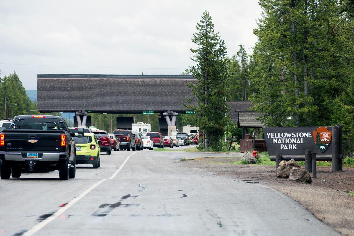 West entrance to Yellowstone National Park