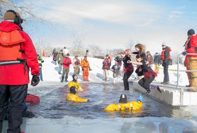 2018 Sweetheart Polar Plunge at Spring Meadow Lake