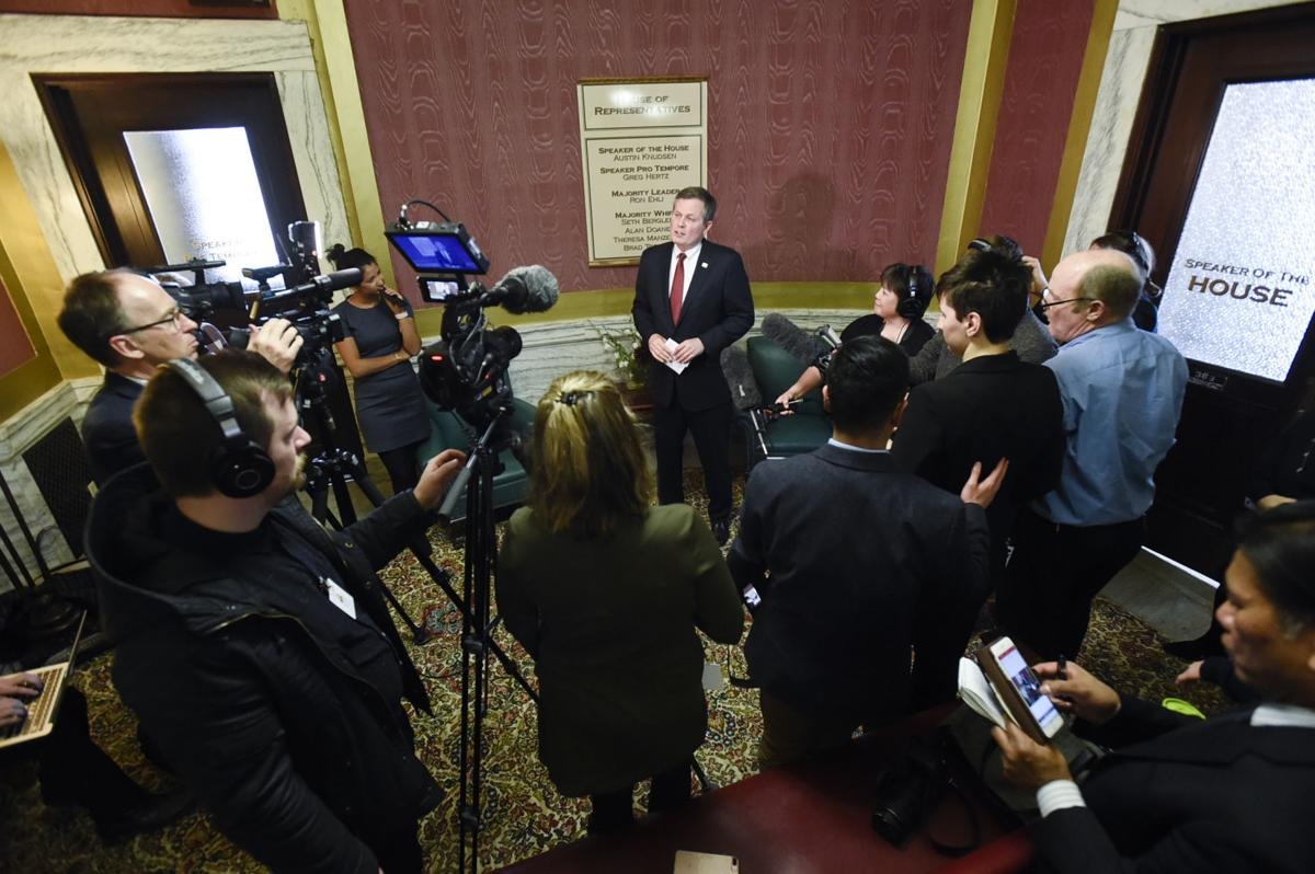Sen. Steve Daines holds a press conference