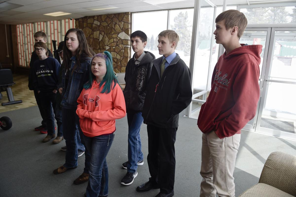 Students from Lincoln High School's freshman entrepreneur class discuss the community fundraiser effort they are leading for the new recreation center in Lincoln.