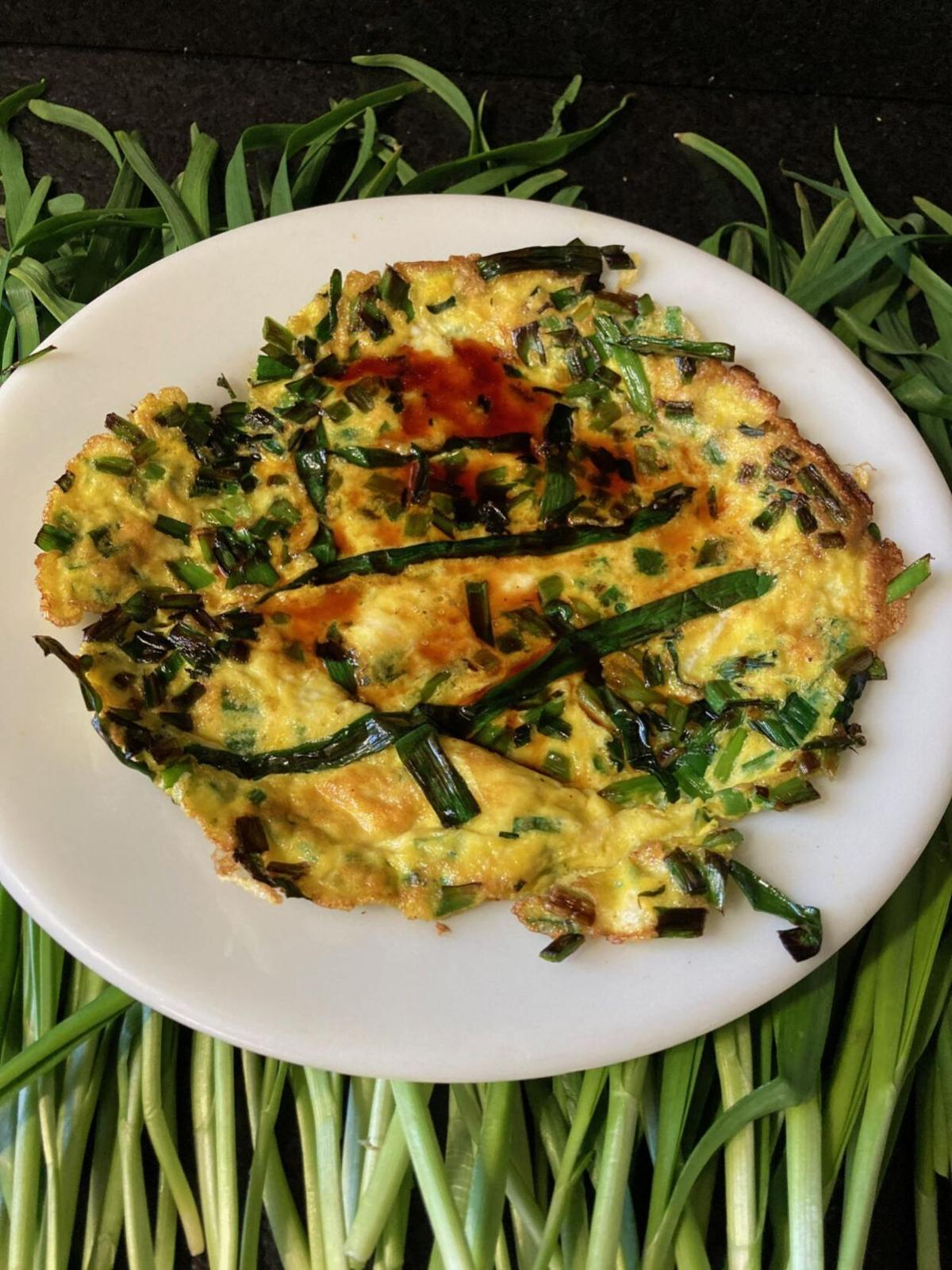 Chive Omelet with Soy Sauce