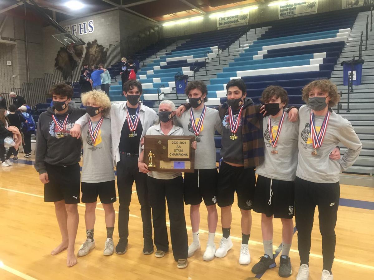 2021 AA boys state swim champions - Helena High