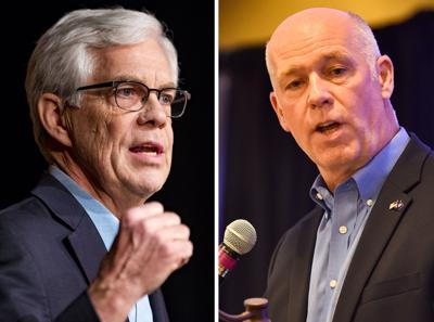 Democratic candidate Lt. Gov. Mike Cooney, left, and republican governor candidate U.S. Rep. Greg Gianforte