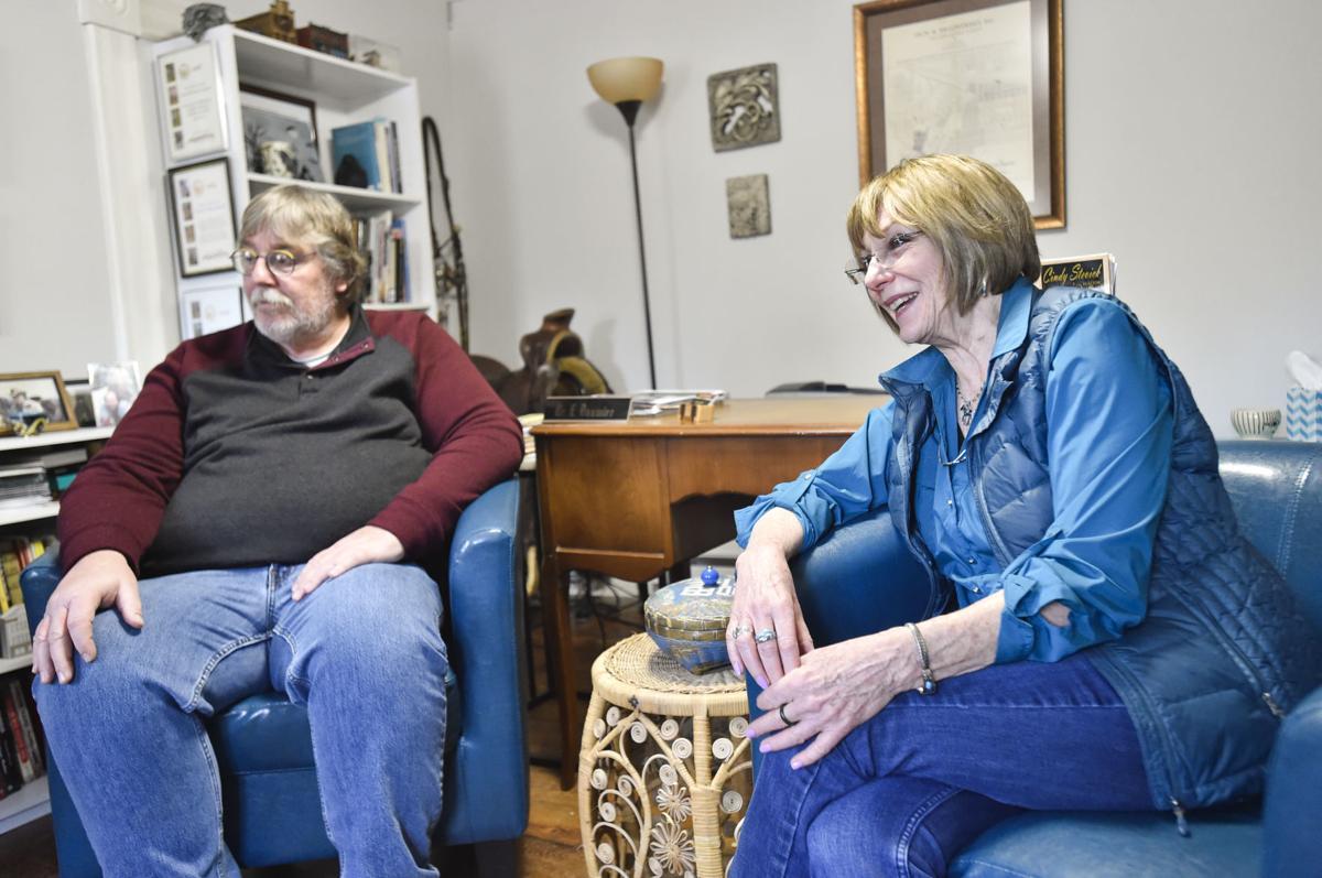 Jon Axline and Ellen Baumler
