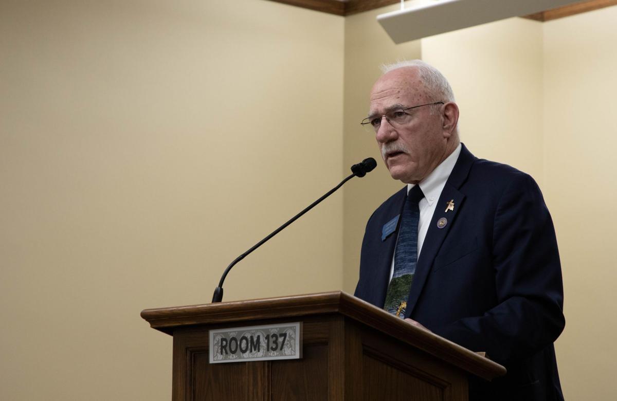 Rep. John Fuller, R-Whitefish, opens a hearing on House Bill 112