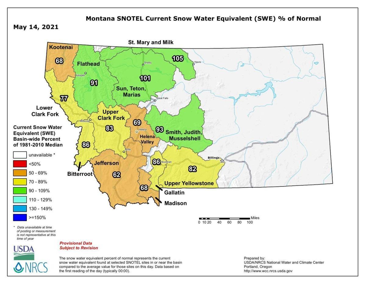 Montana Snowpack May 14