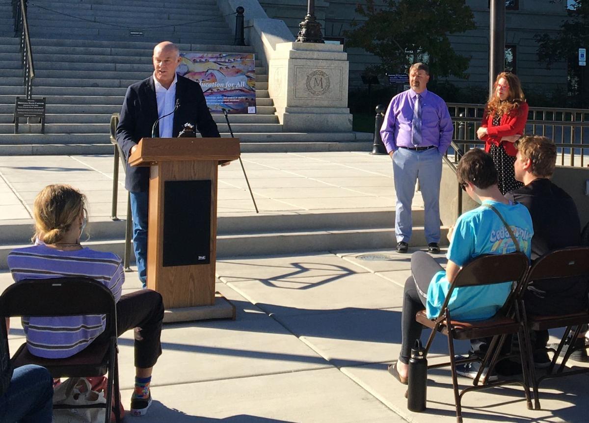 Gov. Greg Gianforte speaks at American Indian Heritage Day ceremony