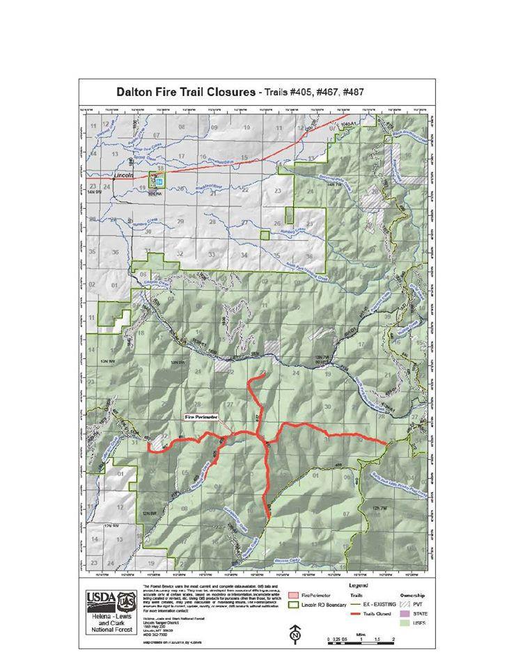 Dalton fire trail closures
