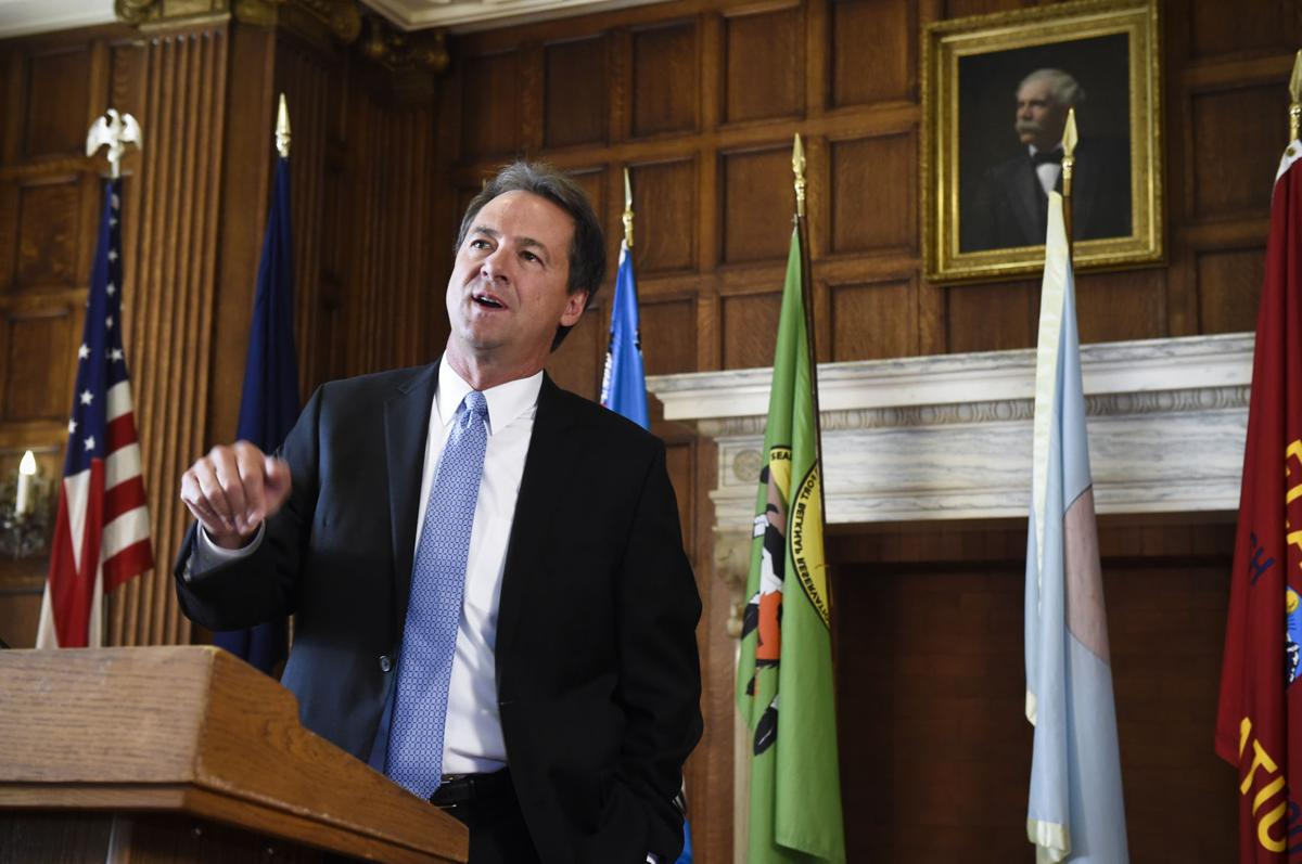 Governor Steve Bullock in the Governor's Reception Room in the State Capitol.