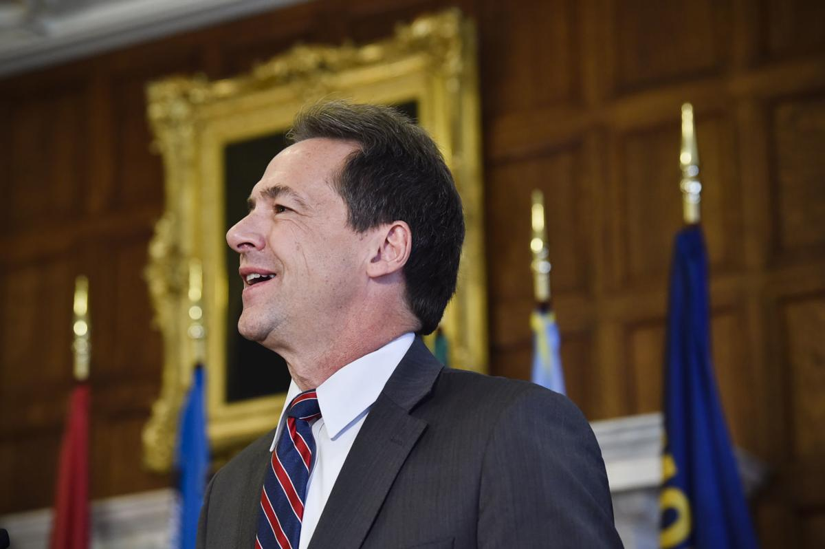 Gov. Steve Bullock speaks at a bill signing ceremony