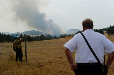 Fire near Helena