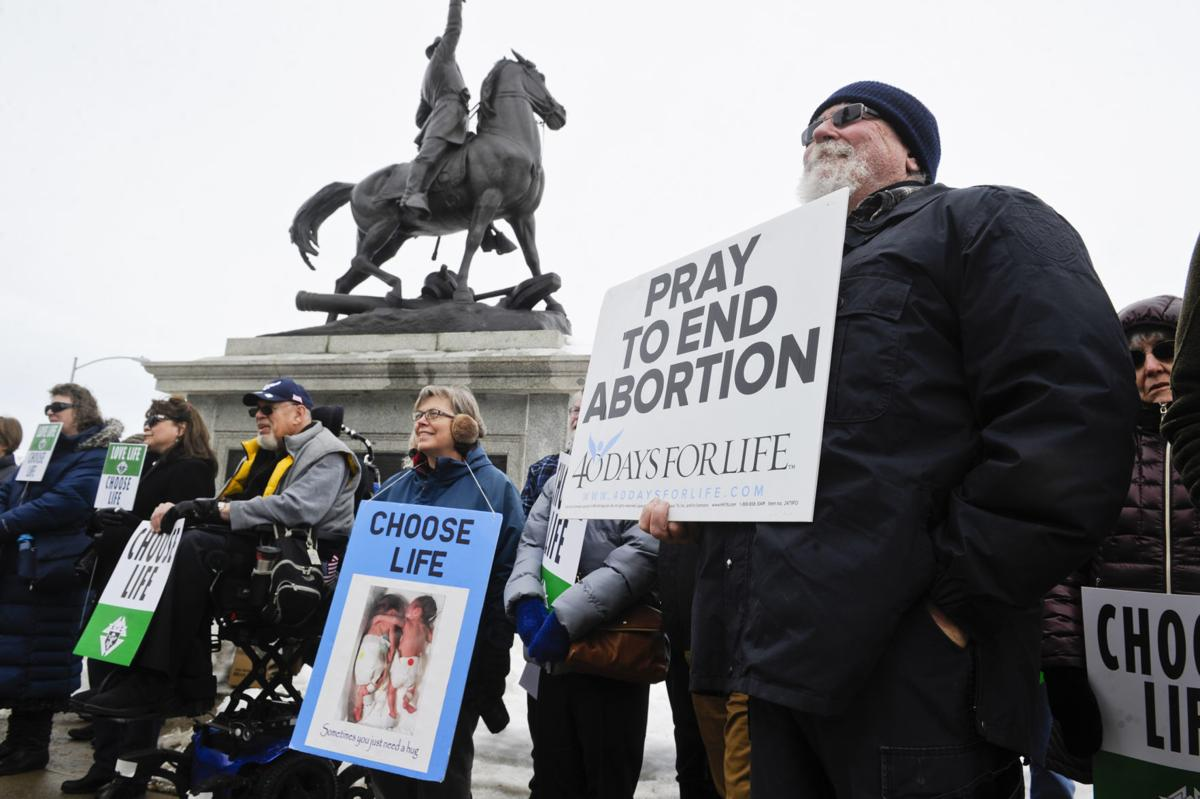 Antiabortion activists gathered at the Capitol