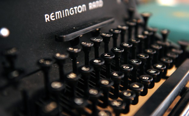 Tyler Knott Gregson uses a 1940's Remington Rand typewriter