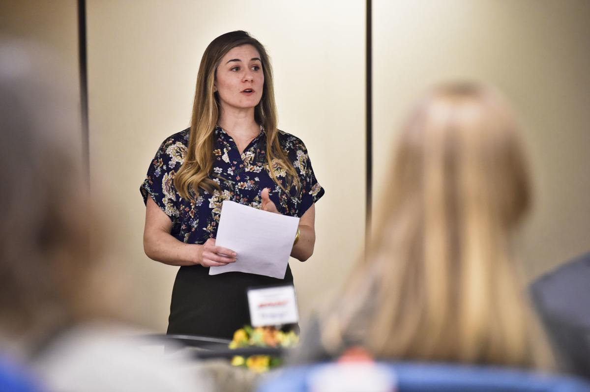 Megan Armstrong Wold presents at the small business seminar earlier this week.