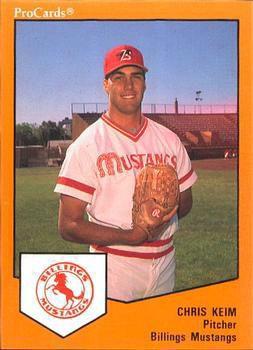 Chris Keim, baseball card